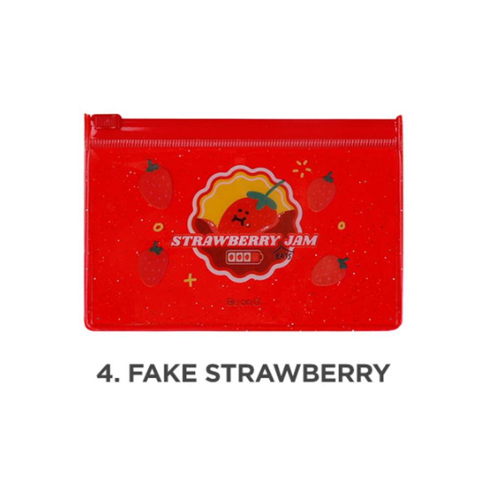 Fake strawberry - Be on D 90s coolkids party small clear zip lock pouch