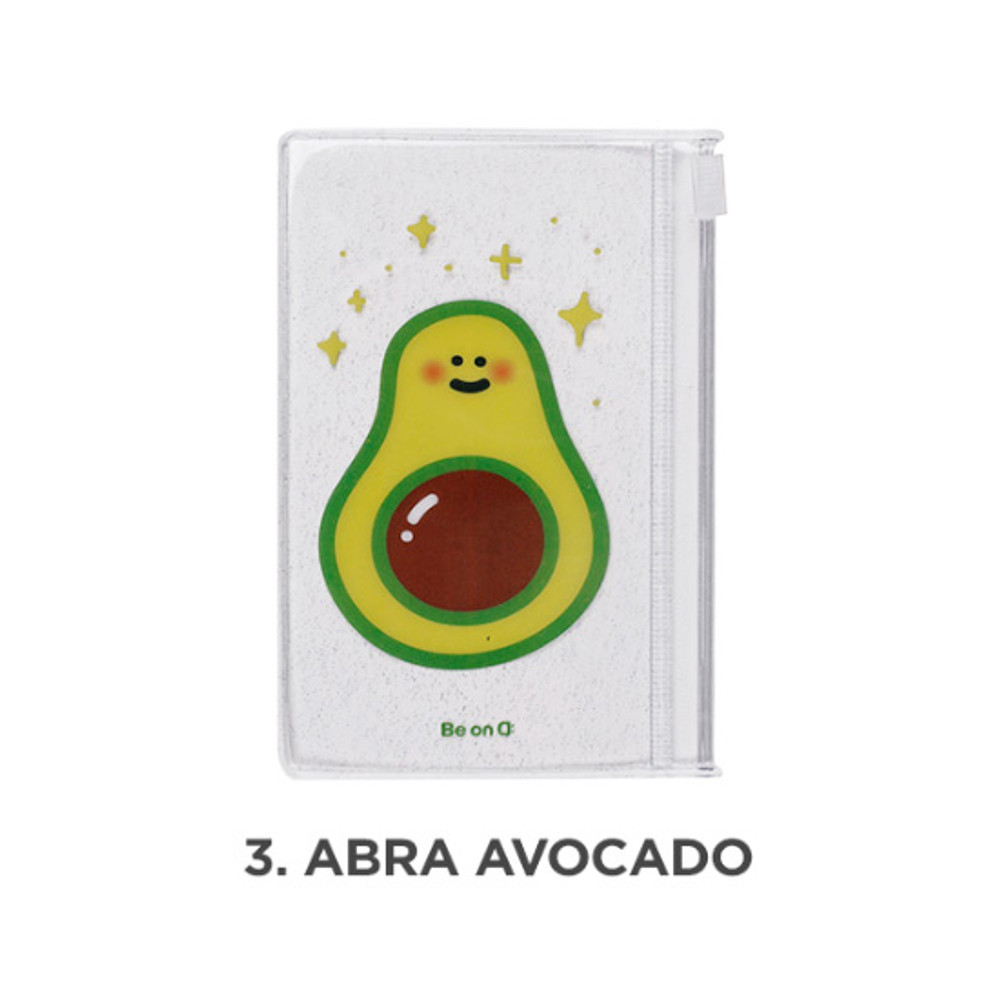 Abra avocado - Be on D 90s coolkids party small clear zip lock pouch