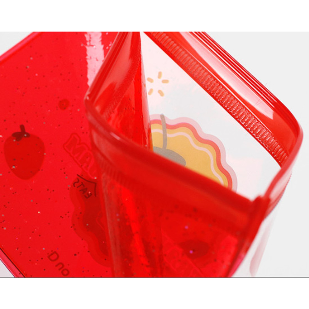 Detail of Be on D 90s coolkids party small clear zip lock pouch