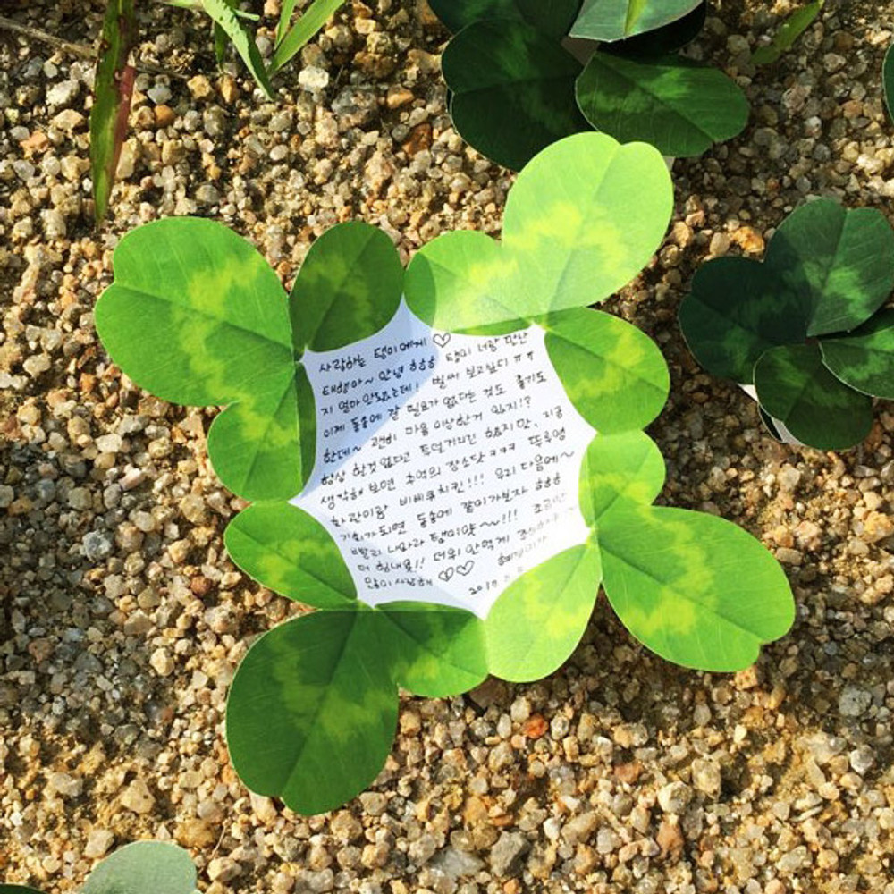 Example of use - ABJECTION Four leaf clover cards and envelope se