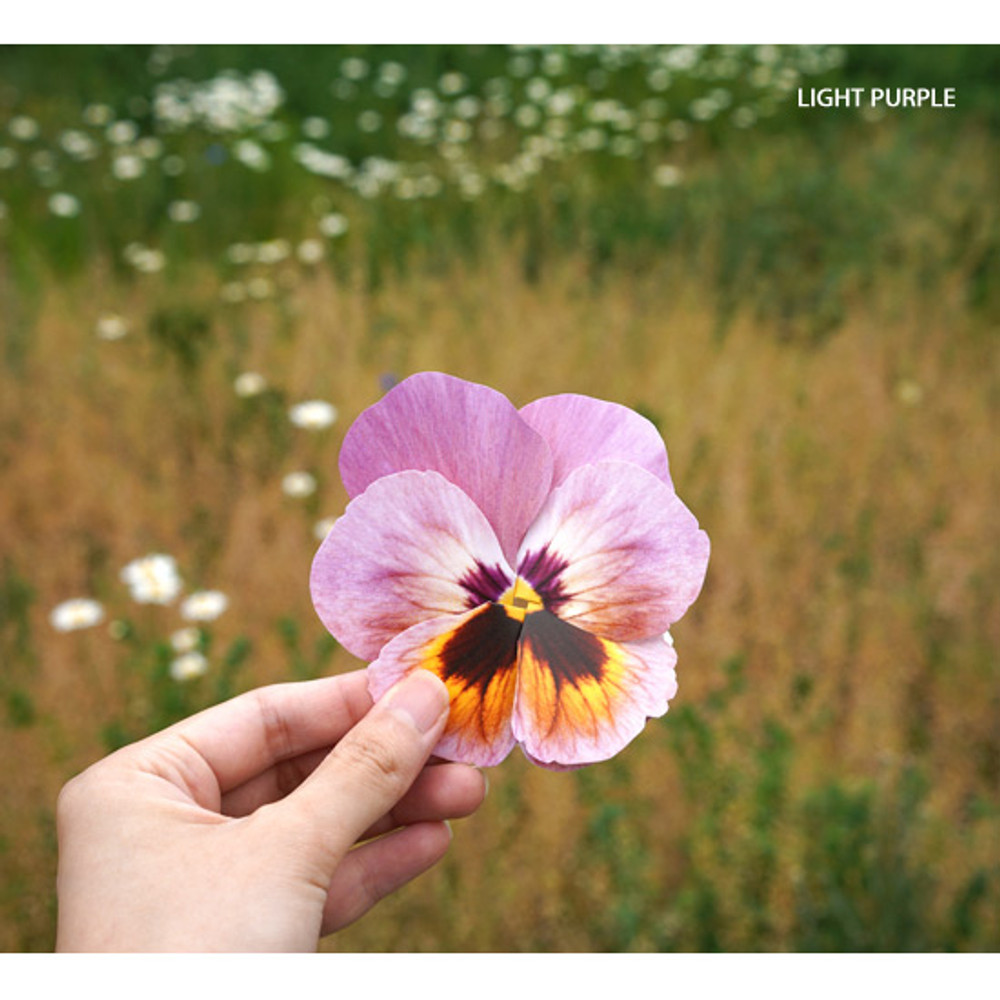 Light purple - ABJECTION Pansy flower card and envelope set ver2