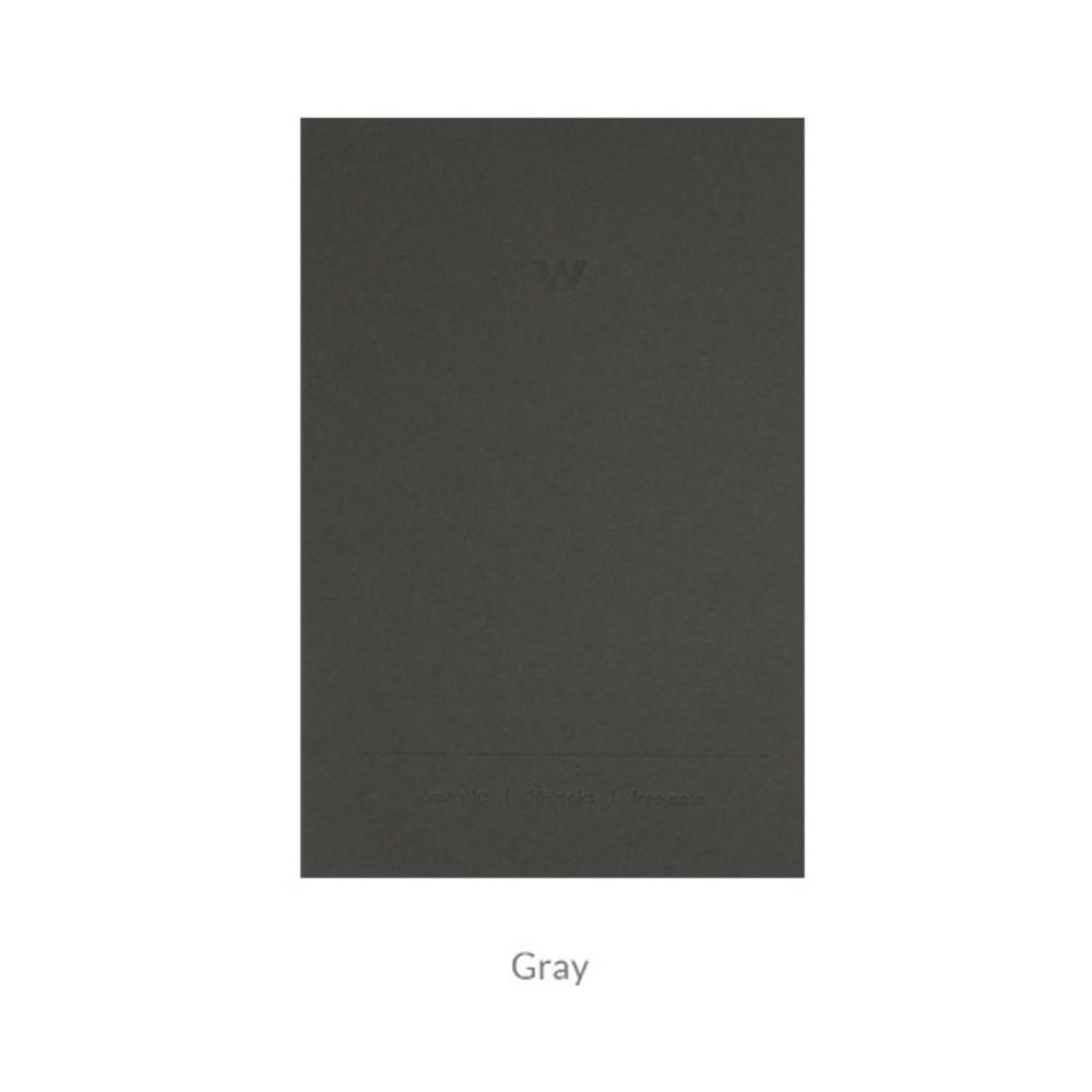 Gray - Indigo 6 Months dateless weekly diary planner