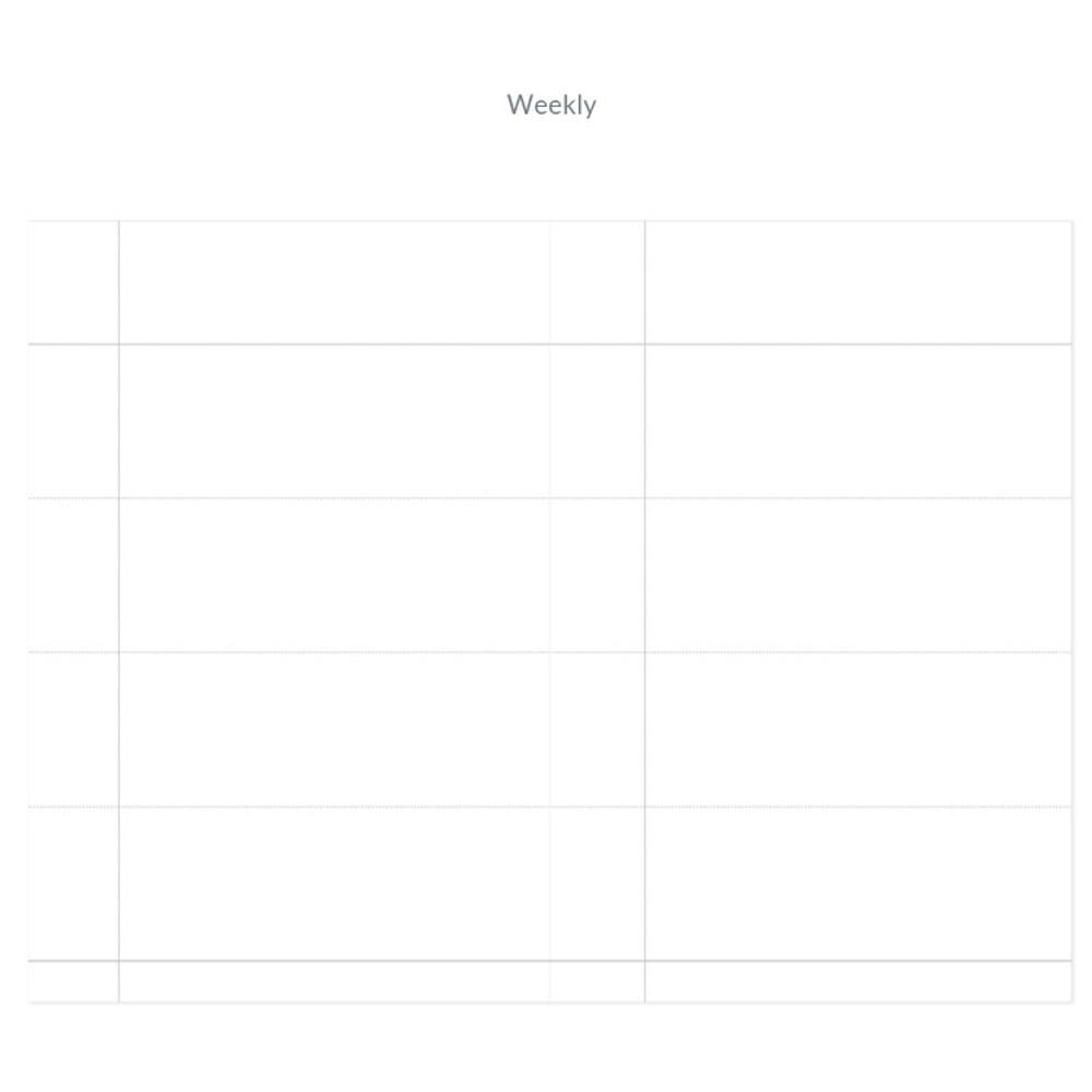 Weekly plan - Indigo 6 Months dateless weekly diary planner