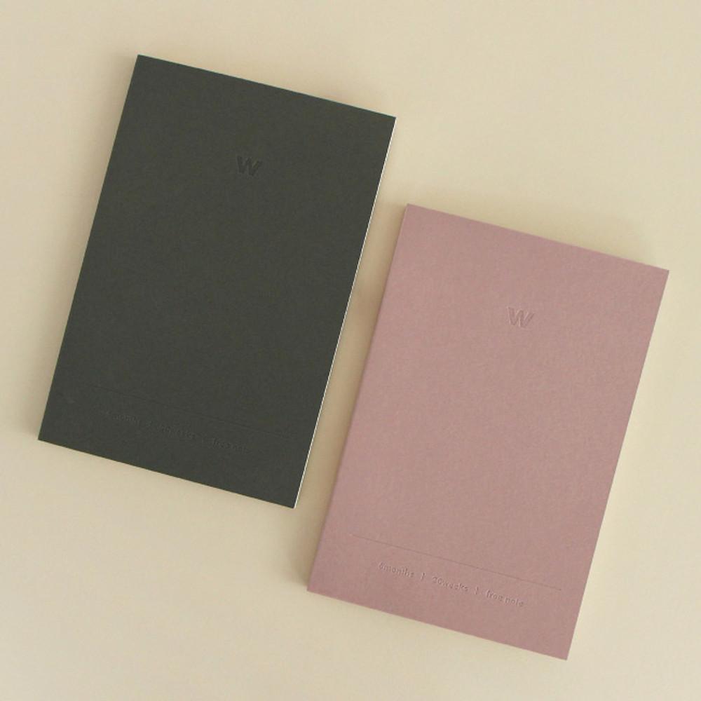 Indigo 6 Months dateless weekly diary planner
