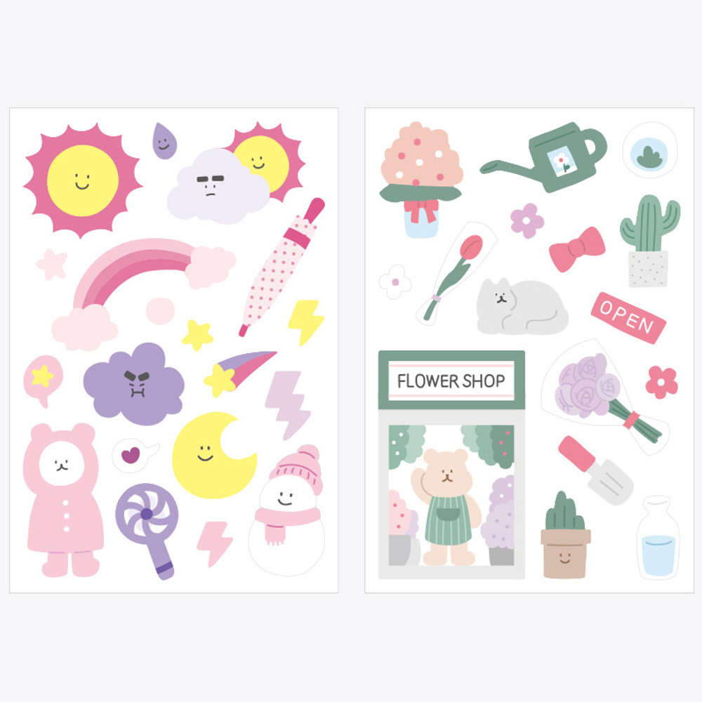 Composition - Rihoon Removable 14 sheets sticker set