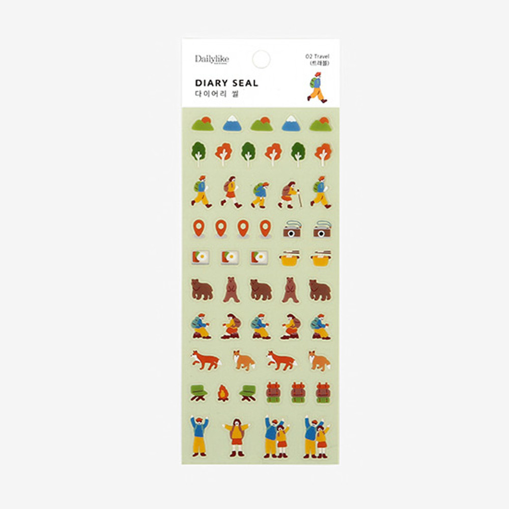 Dailylike Travel PVC cute seal sticker for the diary