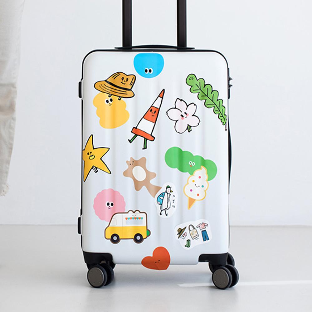 Livework Big point travel luggage sticker set