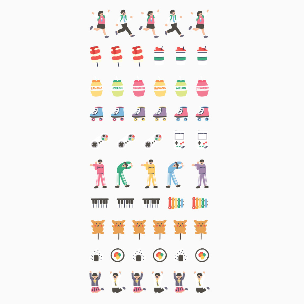 Dailylike After school PVC cute seal sticker for the diary