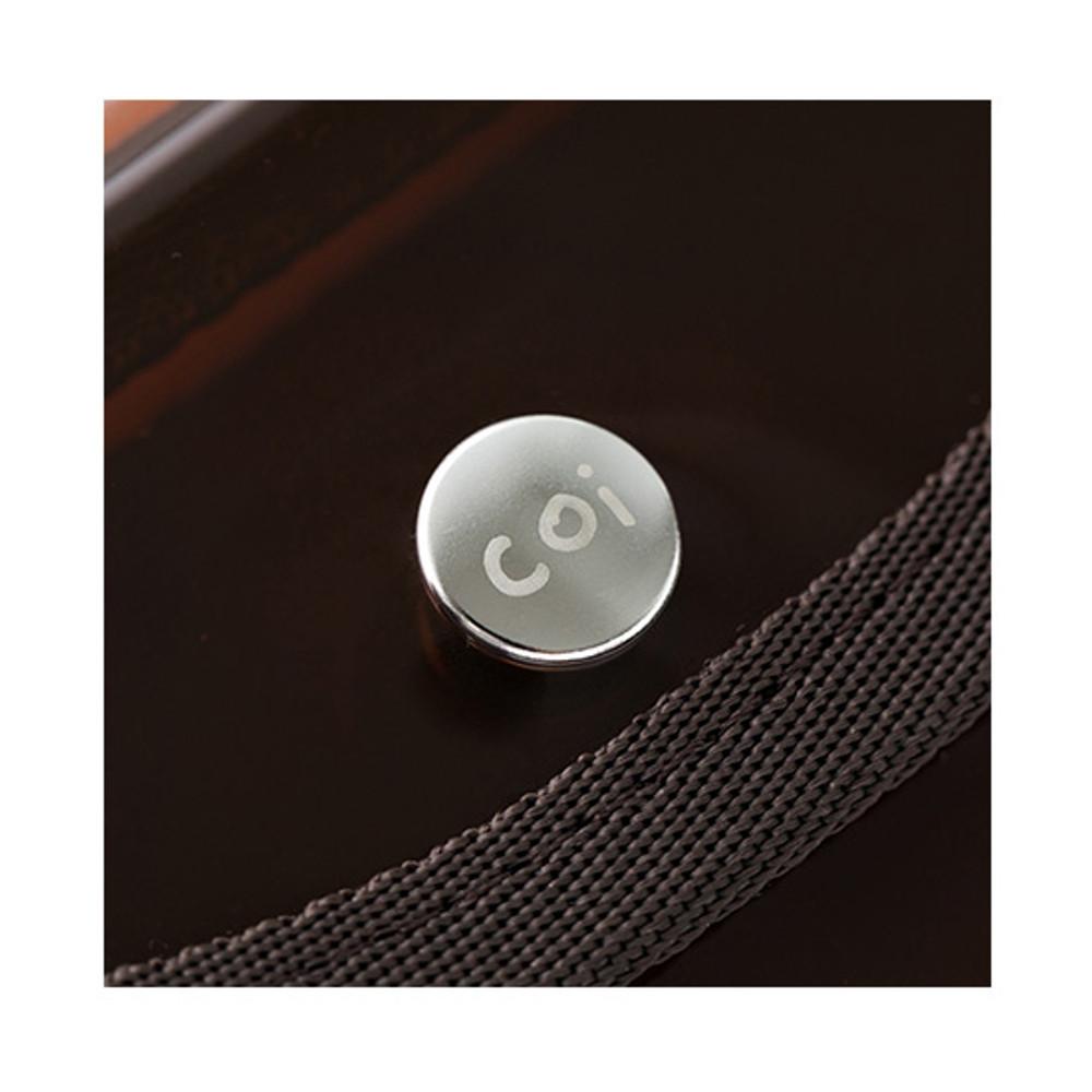 Snap button - Livework Coi clear PVC snap button clutch bag pouch