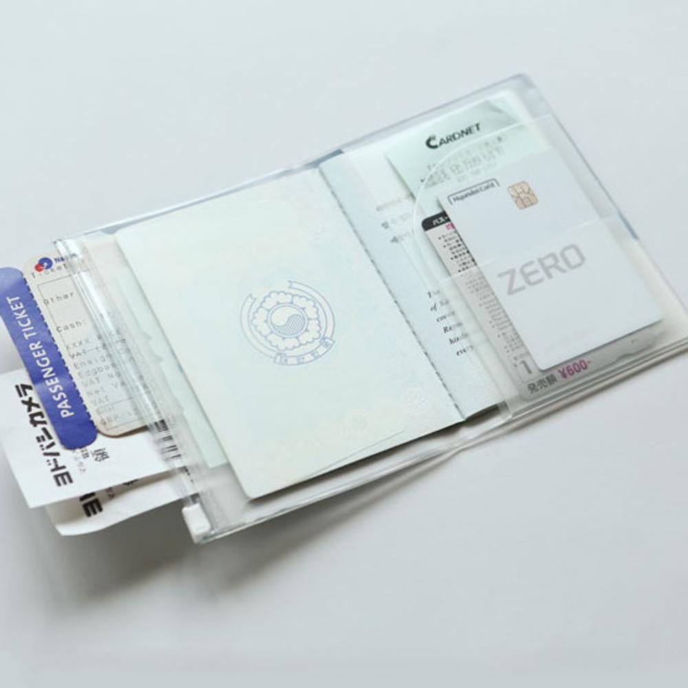 Dailylike Happy cat zip pocket travel passport cover holder