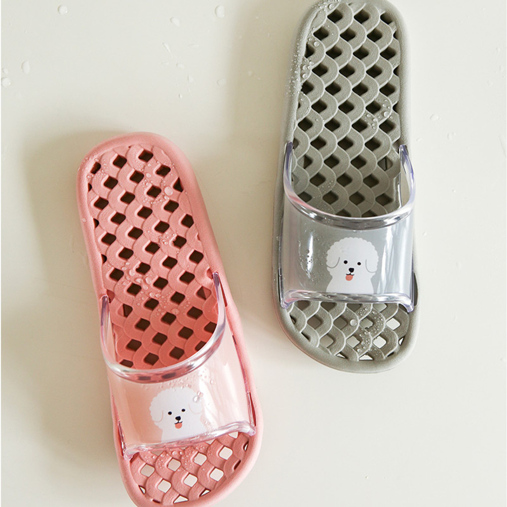 Dailylike Bichon Frise non slip bath shower slippers