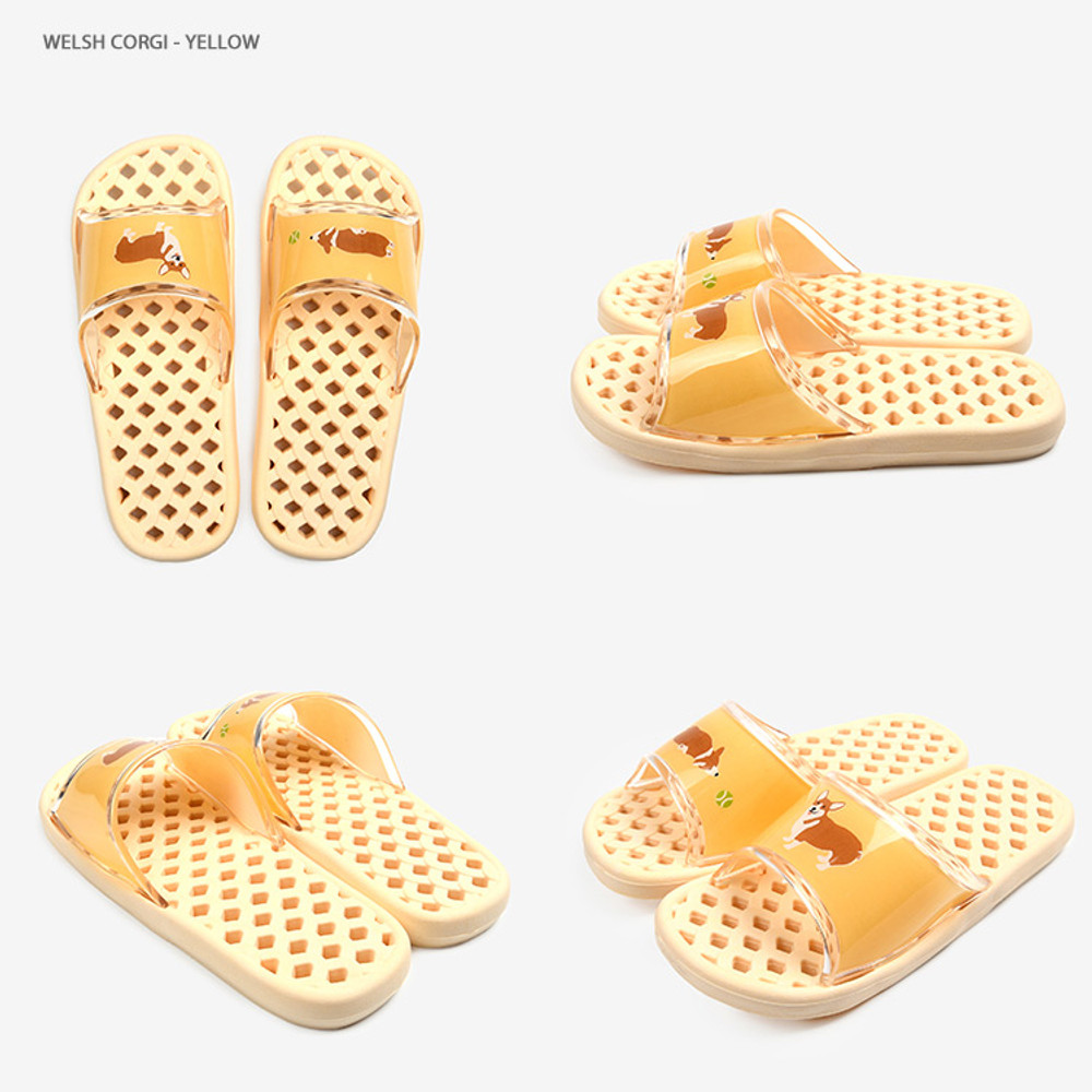 Welsh corgi - Dailylike Welsh corgi and cat non slip bath shower slippers