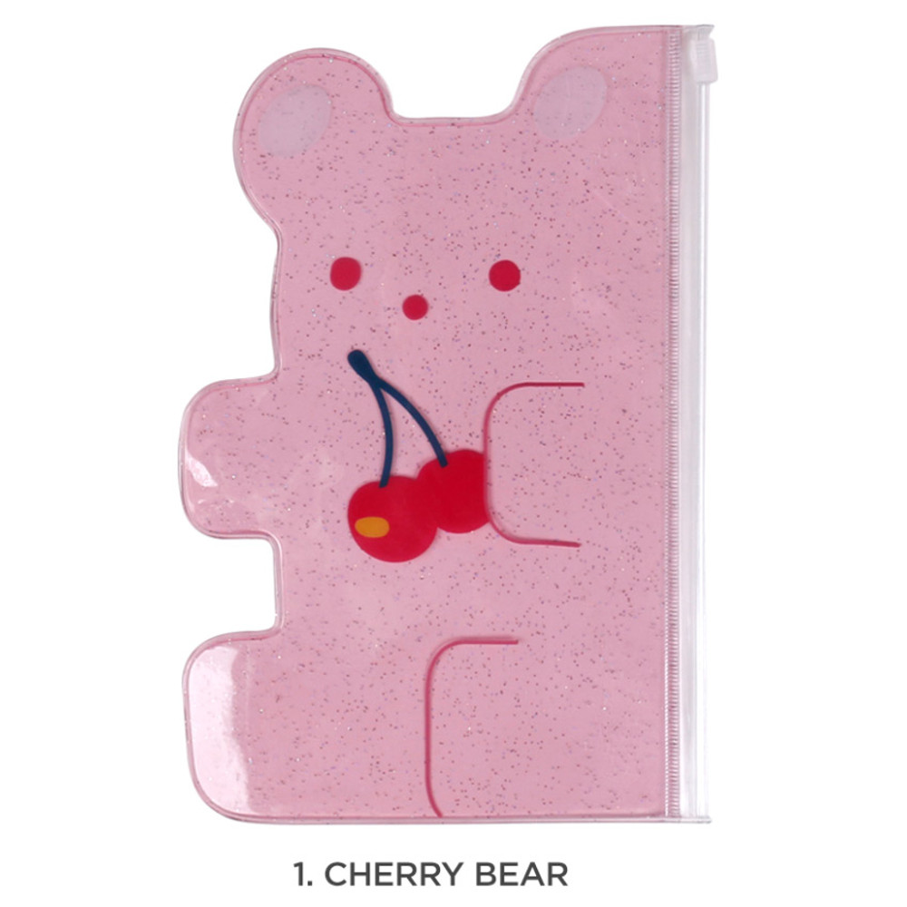 Cherry bear - Jelly bear medium clear zip lock pouch