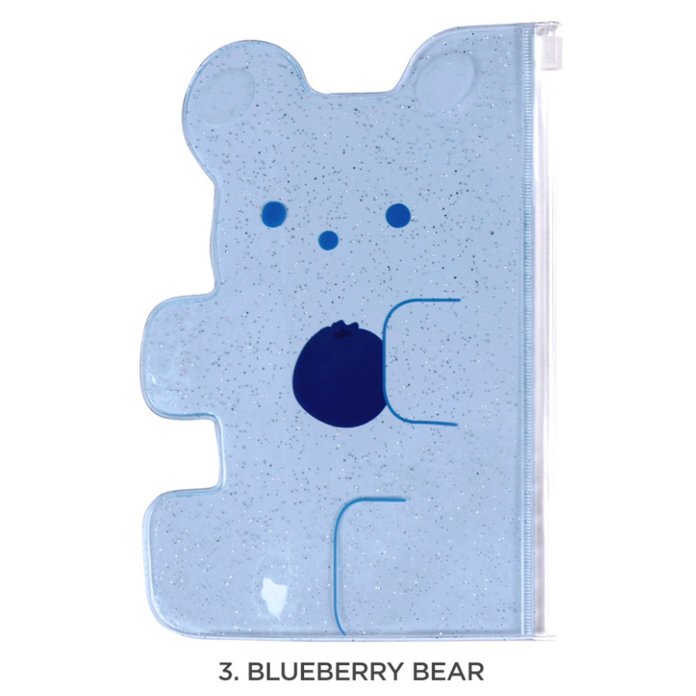 Blueberry bear - Jelly bear medium clear zip lock pouch