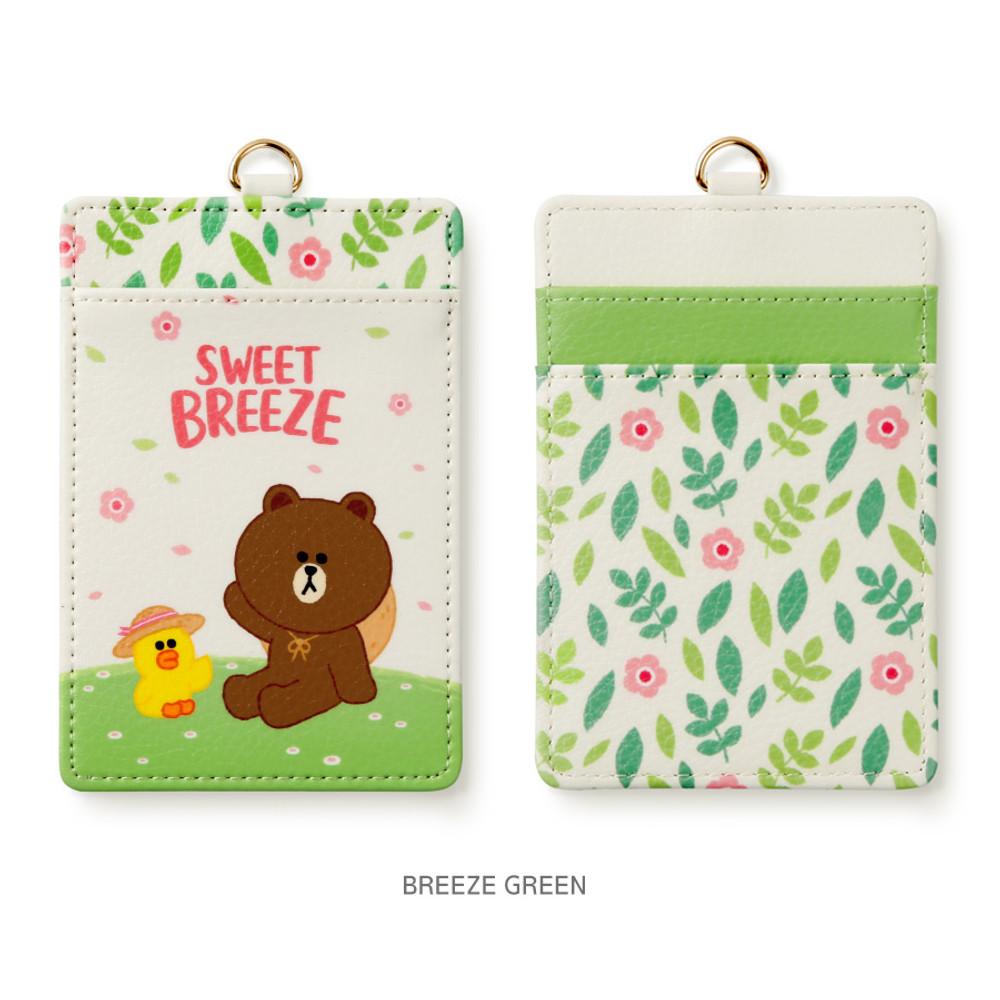 Breeze green - Monopoly Line friends sweet breeze card case holder