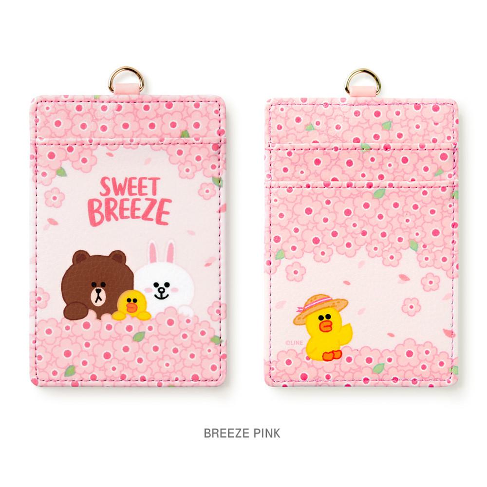 Breeze pink - Monopoly Line friends sweet breeze card case holder