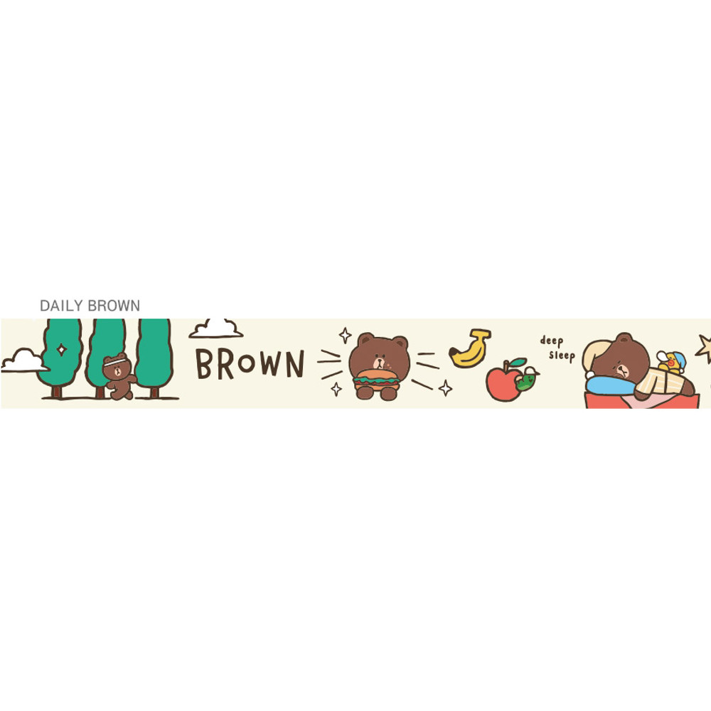 Brown - Monopoly A day of Line friends neck strap