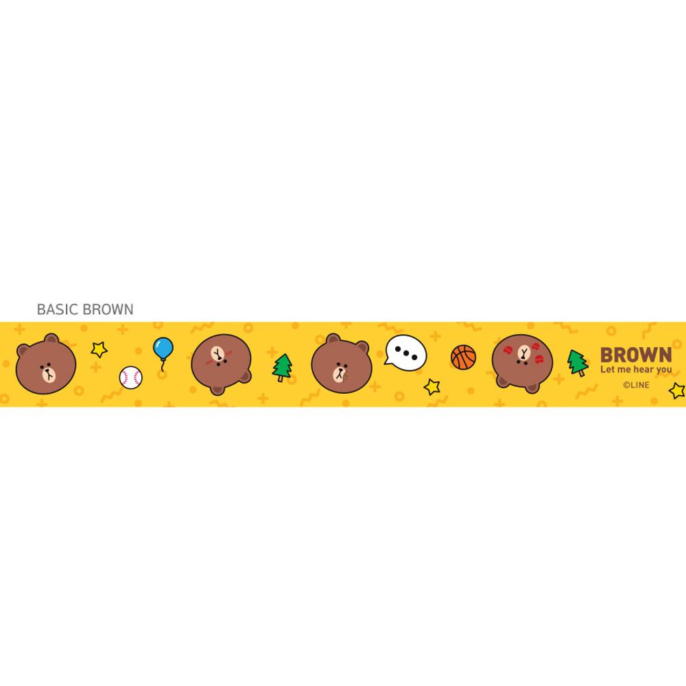 Brown - Monopoly Line friends basic neck strap