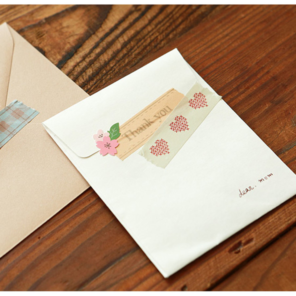 Example of use - Dailylike Heart cross stitch single roll paper masking tape