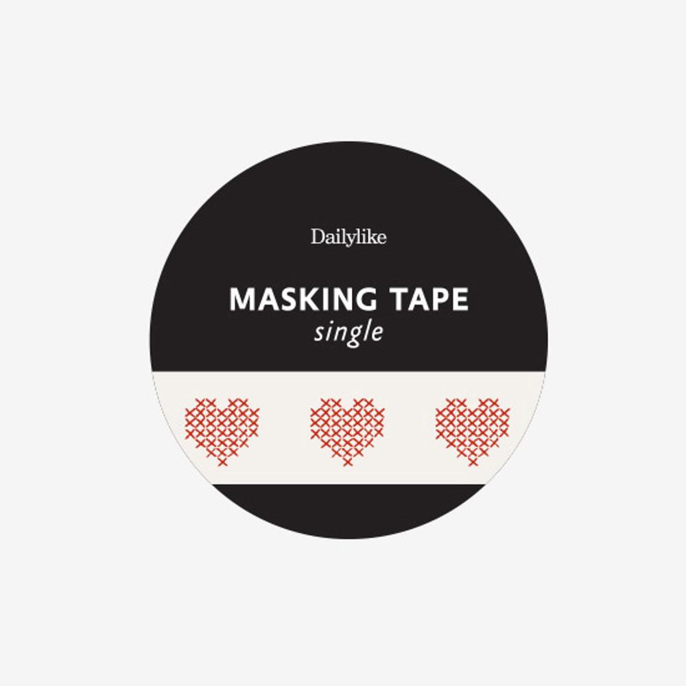 Package - Dailylike Heart cross stitch single roll paper masking tape