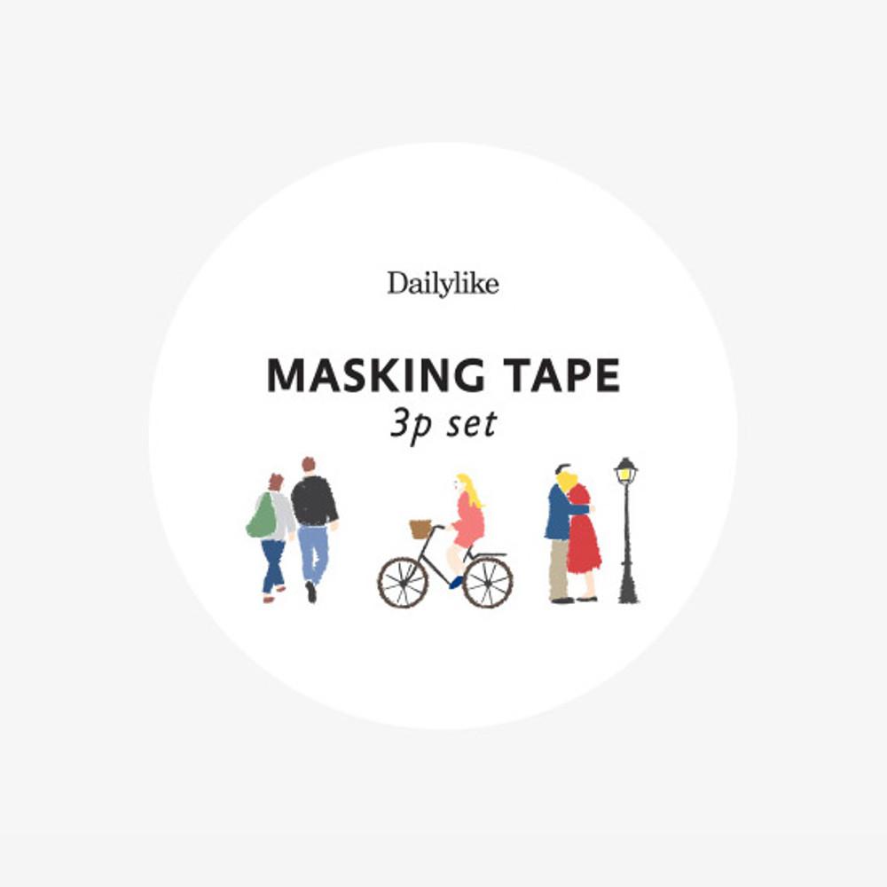 Package - Dailylike Bonjour paper masking tape set of 3