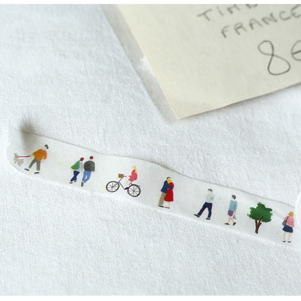 Example of use - Dailylike Bonjour paper masking tape set of 3