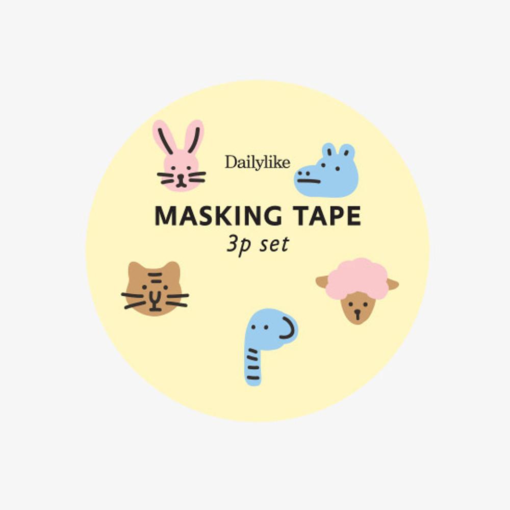 Package - Dailylike Friends paper masking tape set of 3