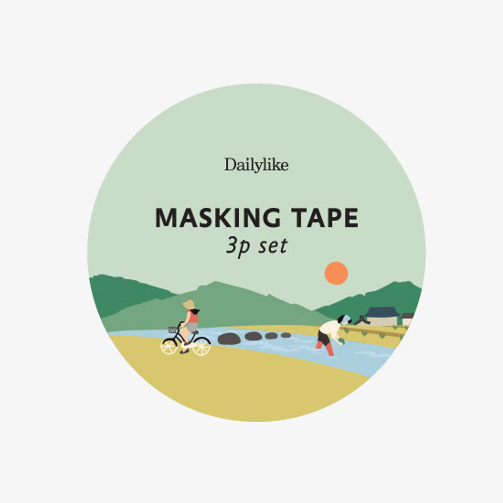 Package of Dailylike Little forest paper masking tape set of 3