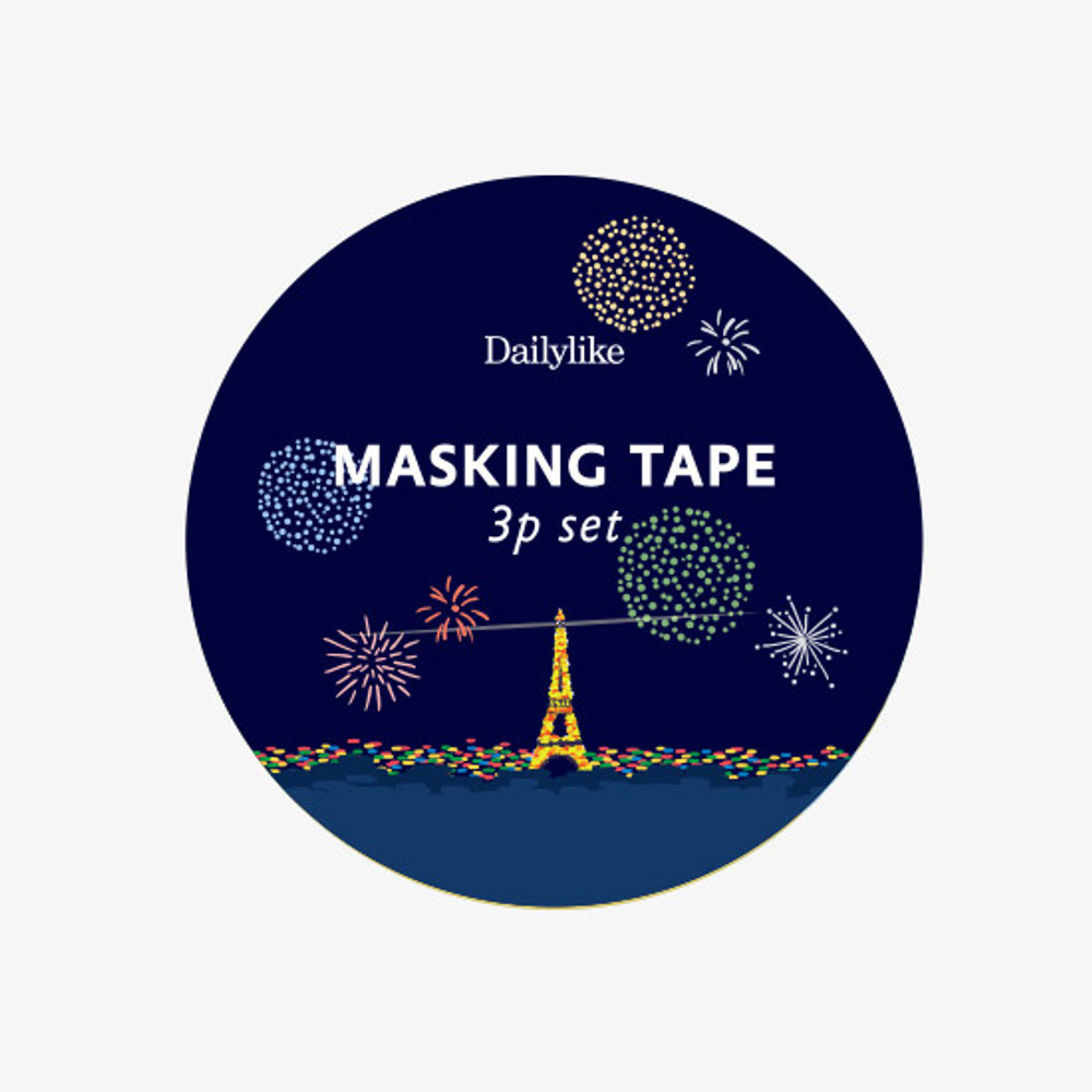 Package of Dailylike Midnight paper masking tape set of 3