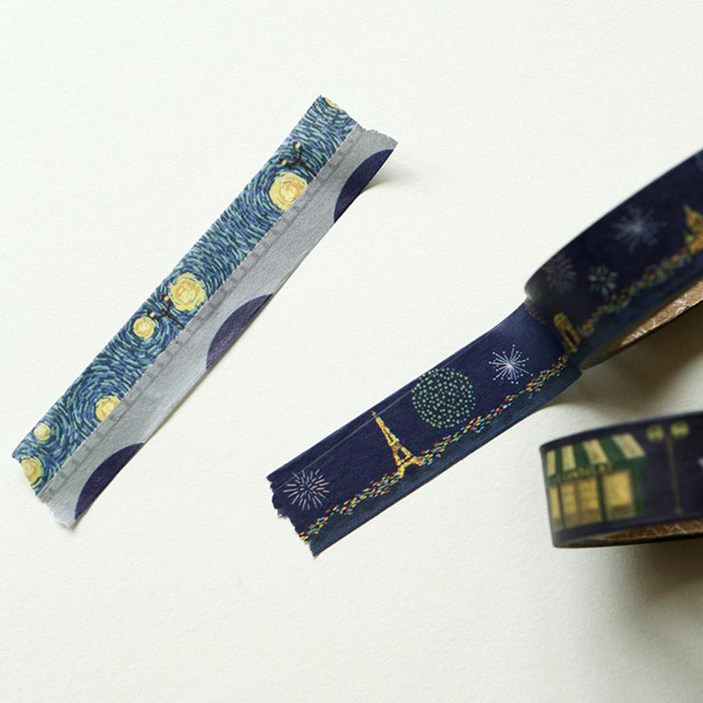 Example of use - Dailylike Midnight paper masking tape set of 3