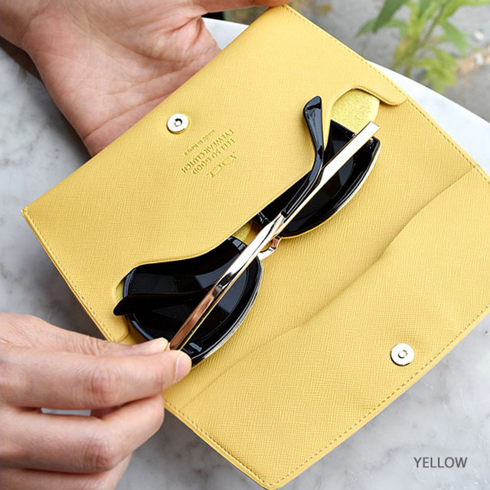 Yellow - Play Obje Feel so good eyewear clutch pouch bag