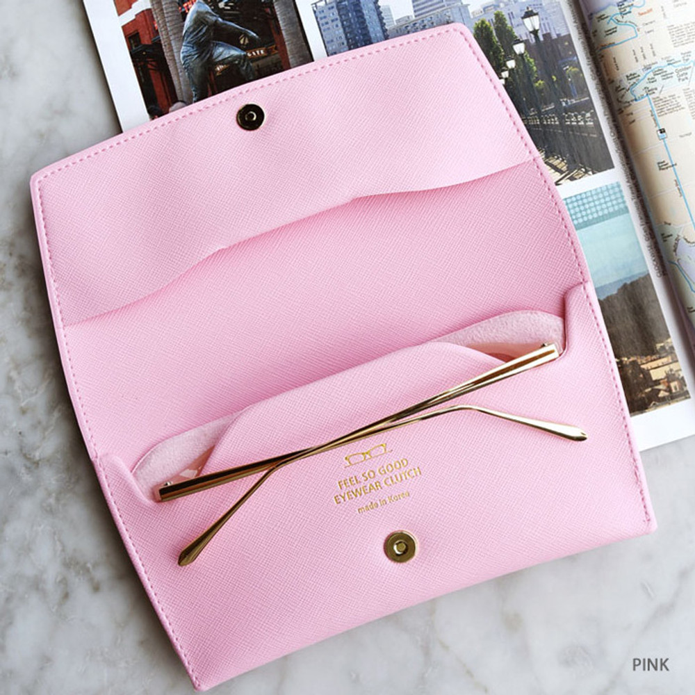 Pink - Play Obje Feel so good eyewear clutch pouch bag