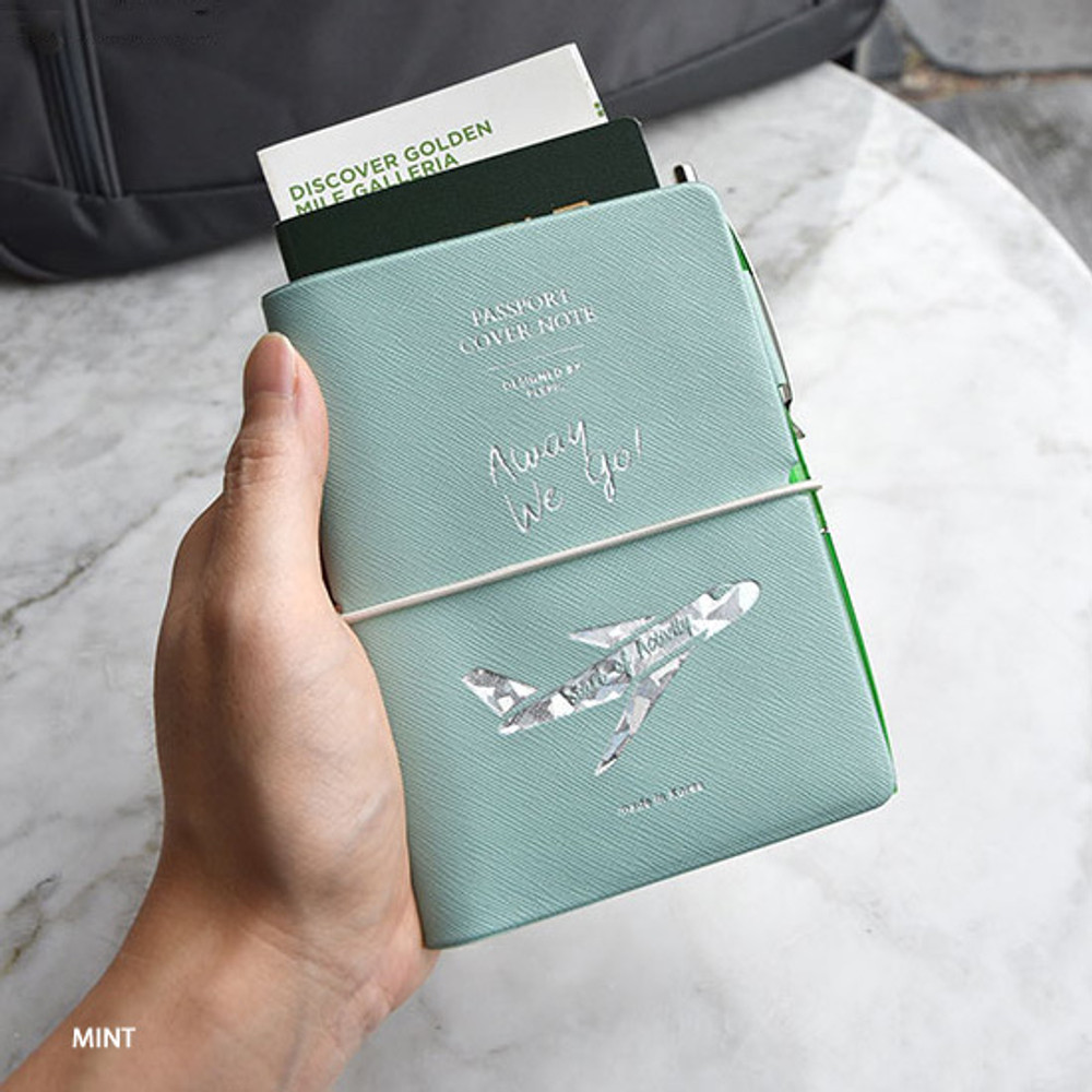 Mint - Play Obje Alway we go hologram passport cover holder with a travel planner