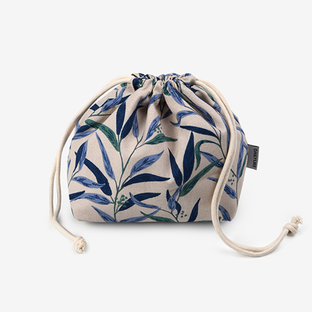 Dailylike Nicholii soft oxford cotton bucket drawstring pouch