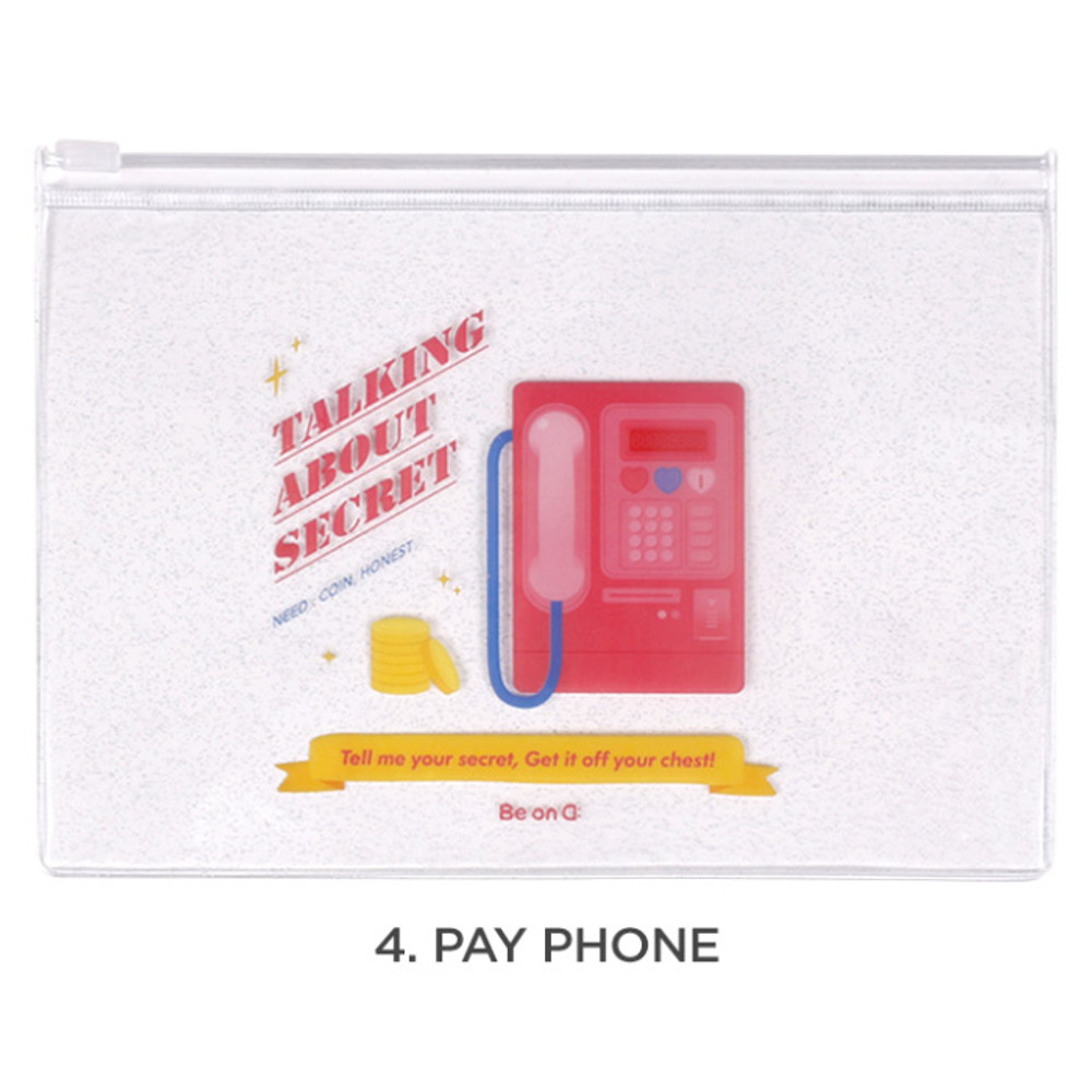 Pay phone - For me party medium clear zip lock pouch