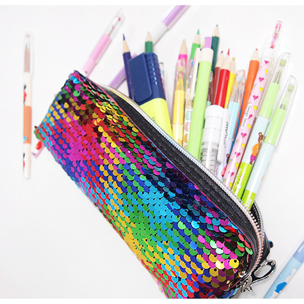 Example of use - 2young Shiny spangle zipper pencil case pouch