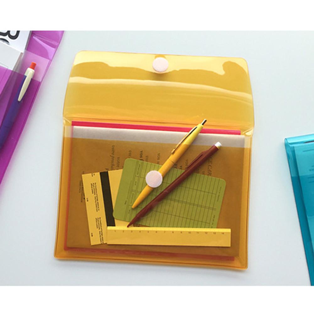 Seeso Neon A5 clear file folder pouch