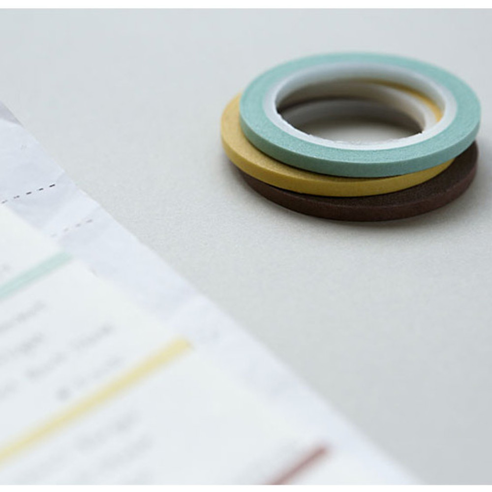 Example of use - Dailylike Pastel2 3mm deco masking tape 3p set
