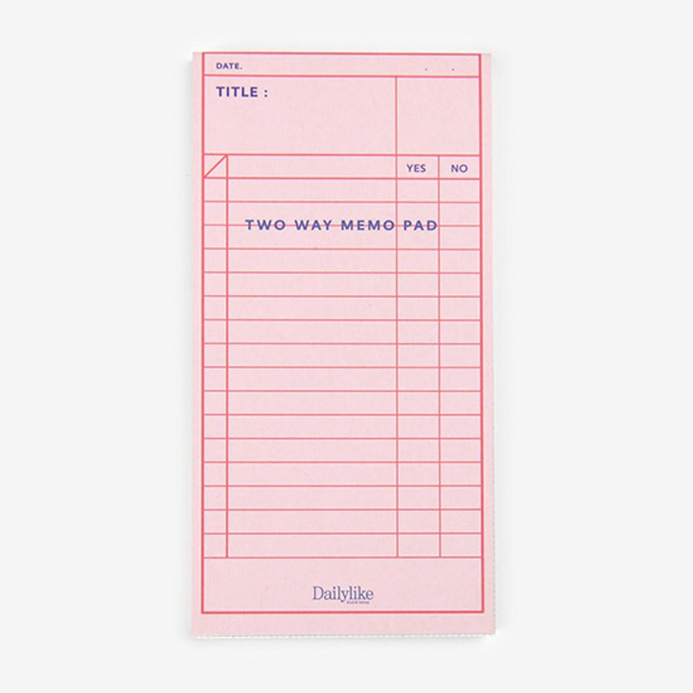 Dailylike Checklist two way memo writing notepad