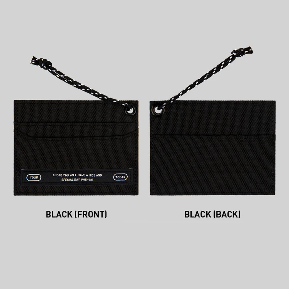 Black - BNTP Today flat card pocket case holder