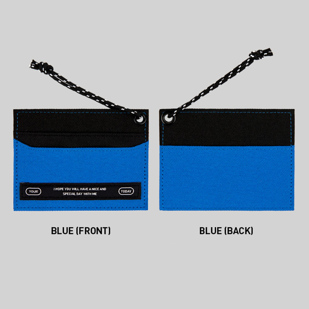 Blue - BNTP Today flat card pocket case holder