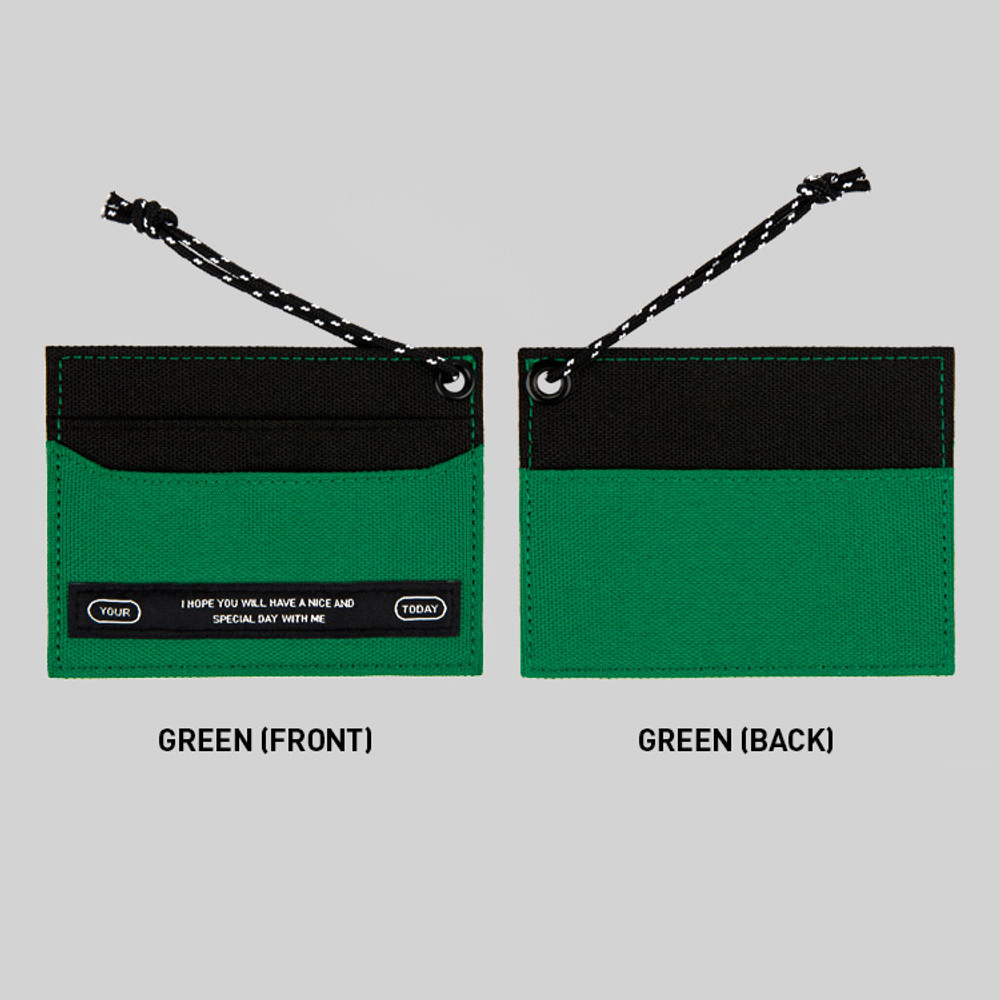 Green - BNTP Today flat card pocket case holder