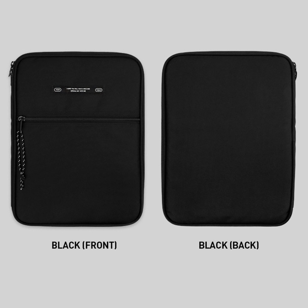 Black - BNTP Today tablet PC iPad zipper multi pouch