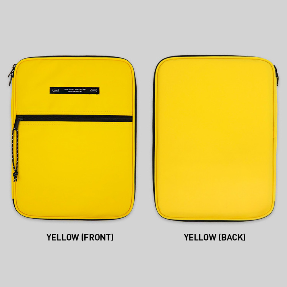 Yellow - BNTP Today tablet PC iPad zipper multi pouch