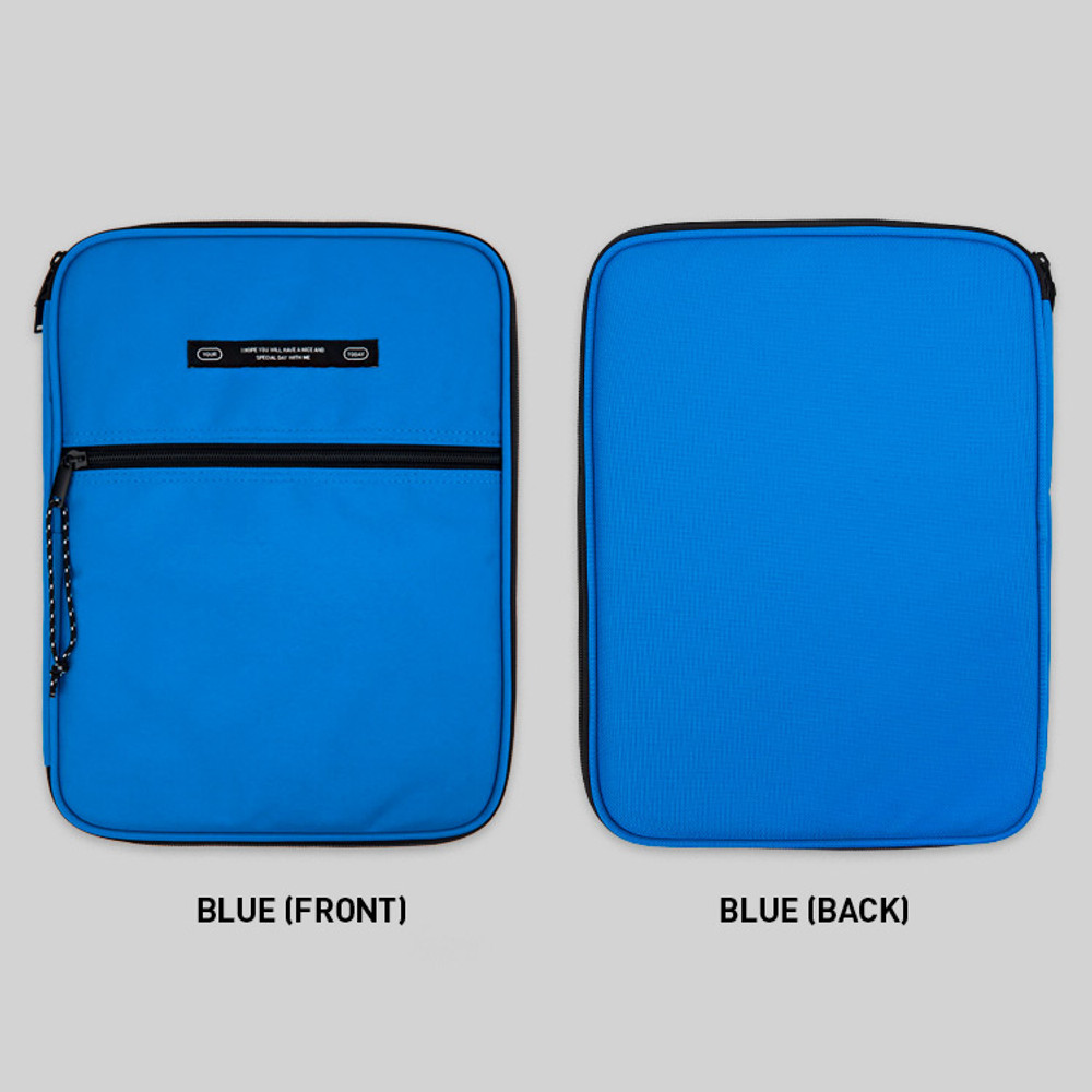 Blue - BNTP Today tablet PC iPad zipper multi pouch
