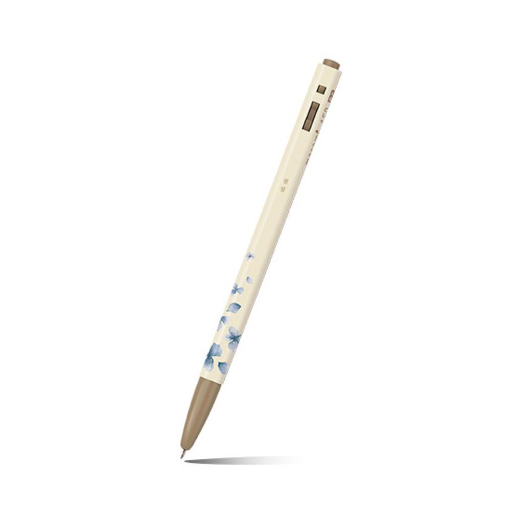 Detail of MONAMI 153 flower knock retractable ballpoint pen set
