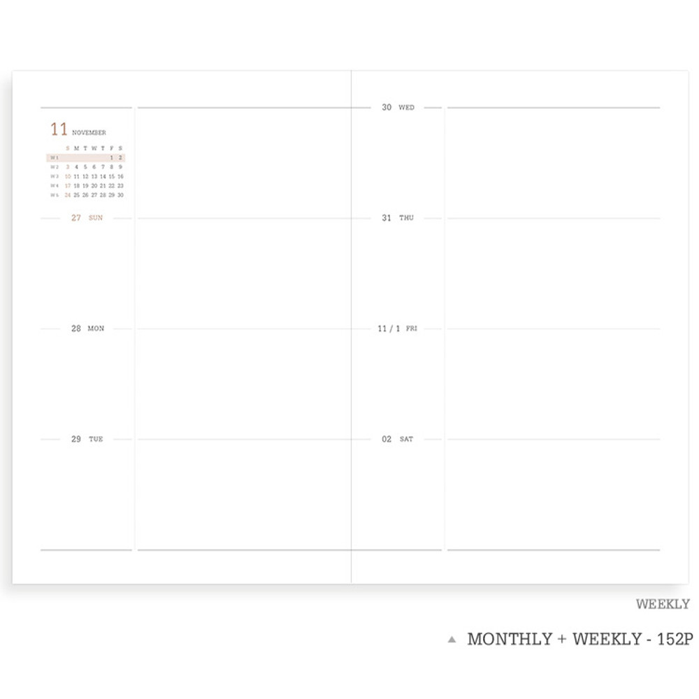 Weekly plan - Indigo 2020 Official soft dated weekly planner notebook