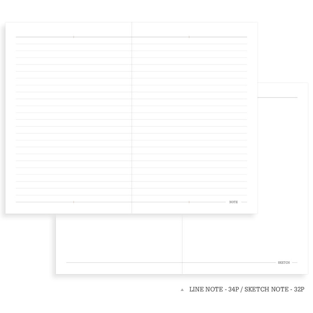 Note page - Indigo 2020 Official soft dated weekly planner notebook