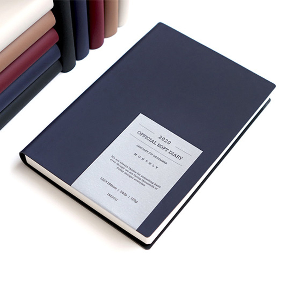 Navy - Indigo 2020 Official soft dated weekly planner notebook