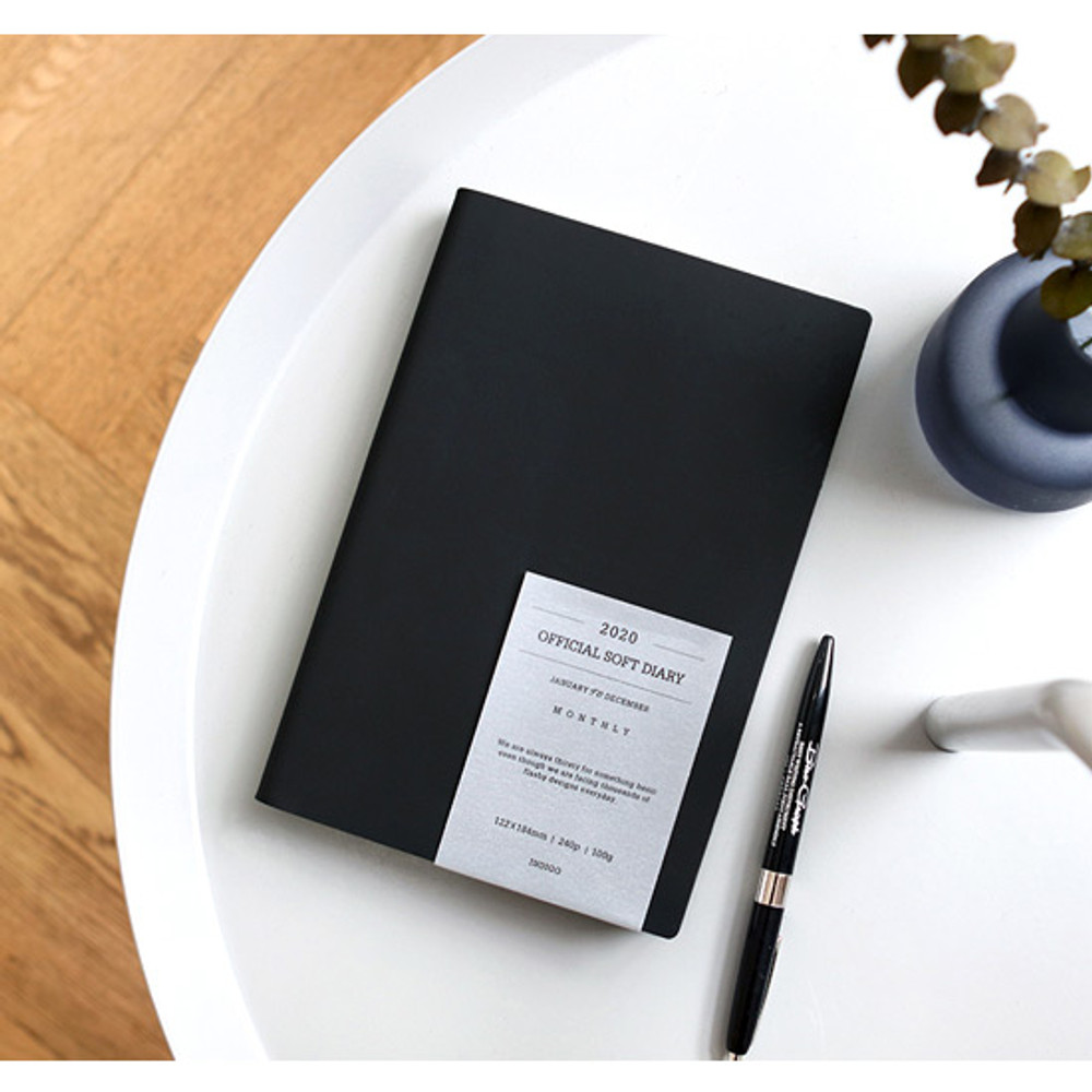 Black - Indigo 2020 Official soft dated weekly planner notebook